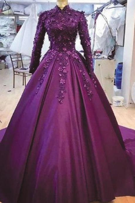 muslim prom dresses, ball gown prom dresses, burgundy prom dresses, high neck prom dress, elegant prom dresses, 2021 prom dresses, prom dresses 2021, vestido de festa, vintage prom dress, arabic prom dresses