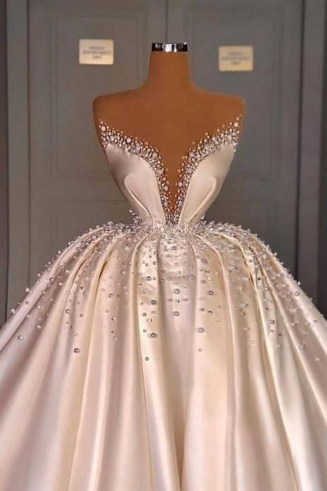 white prom dresses, beaded prom dresses, satin prom dresses, robe de soiree, vestido de fiesta, 2021 prom dresses, luxury prom dresses, prom dresses long, senior prom dresses, prom ball gown