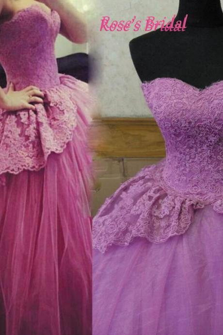 Purple Wedding Dress, Sweetheart Ball Gowns, Lace Wedding Dress, Princesa Wedding Dress, Wedding Gowns 2016, Real Photo Wedding Gowns, Cheap Ball Gowns, 2015 Wedding Dresses, Prom Ball Gown, Sweet 16