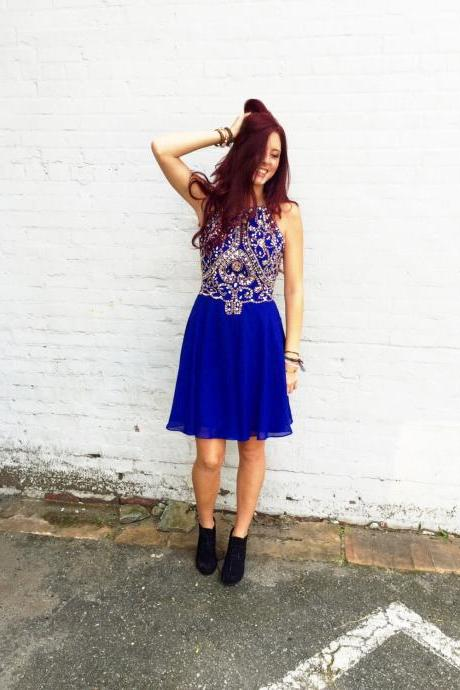 Royal Blue Prom Dress, Short Prom Dresses, Chiffon Prom Dress, Vestido De Festa, Sparkly Prom Dress, Homecoming Dress 2015, Prom Dresses 2016, Party Dresses, Cocktail Dress
