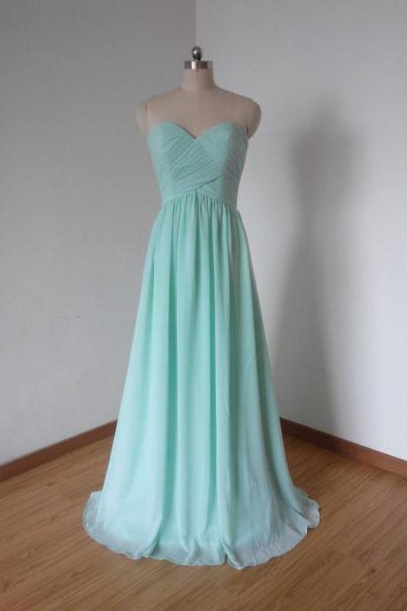 Cheap Bridesmaid Dress, Long Bridesmaid Dresses, Mint Green Bridesmaid Dress, Chiffon Bridesmaid Dress, Mint Bridesmaid Dress, Elegant Bridesmaid Dress, Wedding Party Dress, Formal Dresses