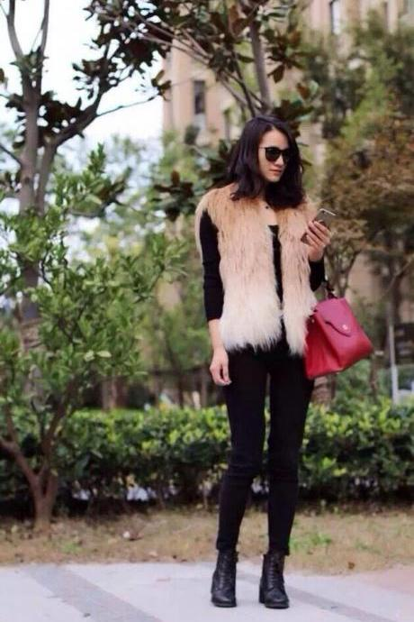 GUESS Women Fashion Fur, Fur Jacket, Sexy Winter Fur, Real GUESS Fur