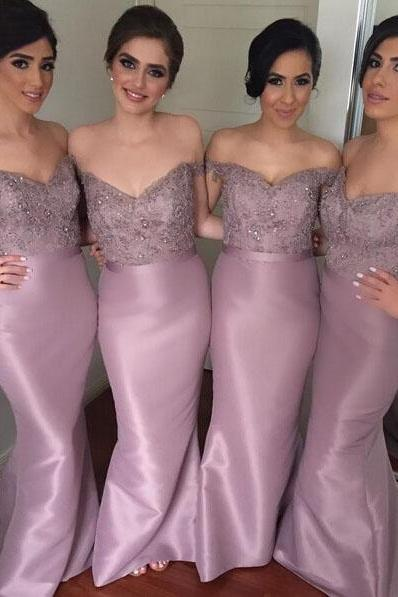 Mermaid Bridesmaid Dress, Purple Bridesmaid Dress, Long Bridesmaid Dress, Elegant Bridesmaid Dress, Cap Sleeve Bridesmaid Dress, Satin Bridesmaid Dress, Cheap Bridesmaid Dress, Dresses For Wedding Party