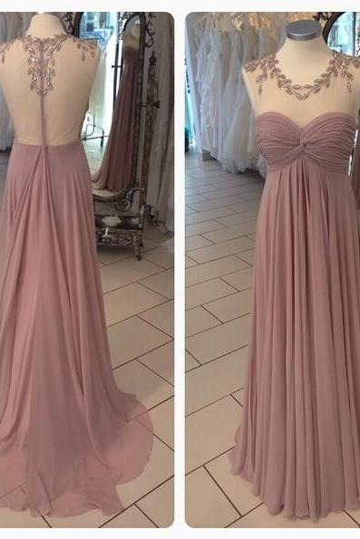 Purple Prom Dress, Long Prom Dress, Chiffon Prom Dress, Rhinestones Prom Dress, Cheap Prom Dress, Elegant Prom Dress, Prom Dresses 2016, Custom Prom Dress, Sheer Back Prom Dress