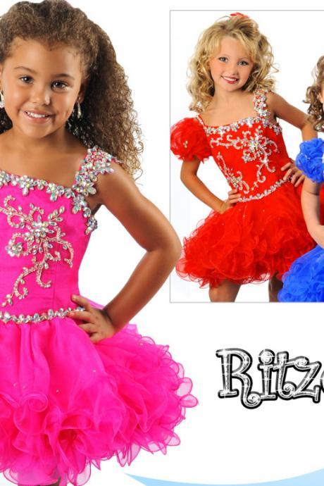 Little Girls' Pageant Dresses, Little Girls' Cupcake Dresses, Little Girls Party Dresses, Adorable Little Girls Pageant Dresses, Lovely Little Girls' Cupcake Dresses, Elegant Girls Pageant Dresses, One Shoulder Girls Cupcake Dresses, Crystal Little Girls' Party Dresses, Organza Little Girls Pageant Dress, Ball Gown Girls Cupcake Dresses, Tiered Girls Party Dresses