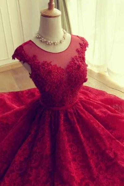Burgundy Prom Gown, Lace Prom Dress, Vintage Prom Dress, Elegant Prom Dress, Long Prom Dress, Affordable Prom Dress, Sweet 16 Dresses, Formal Party Dresses