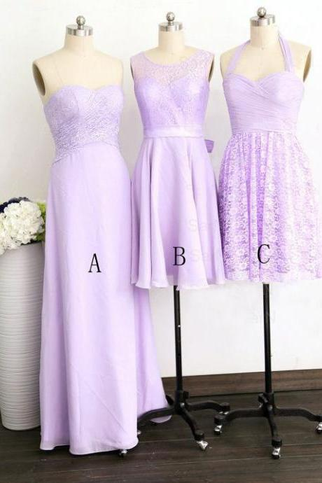 Purple Bridesmaid Dress, Long Bridesmaid Dress, Short Bridesmaid Dress, Cheap Bridesmaid Dress, Mismatched Bridesmaid Dresses, Lace Bridesmaid Dress, Custom Bridesmaid Dress, 2016 Bridesmaid Dresses