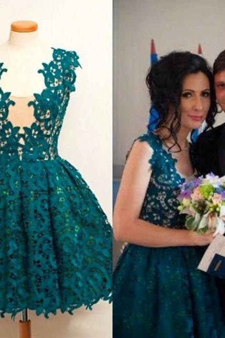 Teal Green Homecoming Dress, Lace Homecoming Dress, Short Homecoming Dress, Cheap Homecoming Dress, Homecoming Dresses 2016, Prom Dresses 2016, Cocktail Party Dress