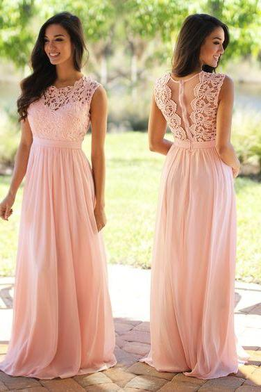 Lace Prom Dress, Blush Pink Prom Dress, Long Prom Dress, Elegant Prom Dress, A Line Prom Dress, Vestido De Festa, Cheap Formal Dress, Wedding Party Dresses