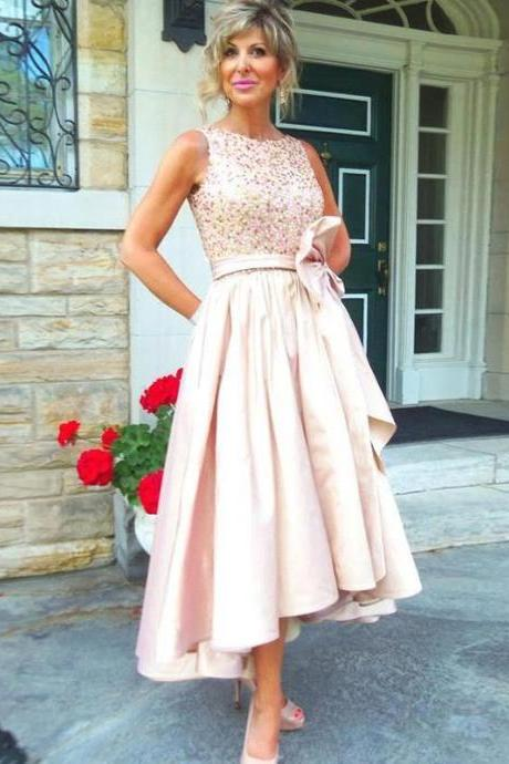 High Low Prom Dress, Rose Sequins Prom Dress, Short Prom Dress, Blush Pink Prom Dress, Off Shoulder Prom Dress, Cheap Prom Dress, Sparkly Prom Dresses, A Line Prom Dress, Graduation Dresses 2017, Chiffon Prom Dress