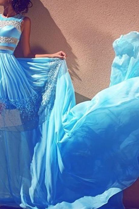 Blue Prom Dresses, Lace Prom Dress, Chiffon Prom Dress, Off Shoulder Prom Dress, Long Prom Dress, Sexy Prom Dress, 2017 New Arrival Formal Dresses