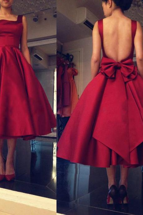 A Line Prom Dress, Satin Prom Dress, Cheap Prom Dress, Prom Dresses 2017, Short Prom Dress, Burgundy Prom Dress, Backless Prom Dress, Vintage Prom Dress, Prom Dresses 2017