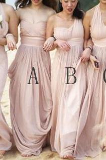 Pink Bridesmaid Dress, Mismatched Bridesmaid Dresses, Long Bridesmaid Dress, Cheap Bridesmaid Dress, Custom Bridesmaid Dress, Elegant Bridesmaid Dress, Bridesmaid Dresses 2017, Women Formal Party Dress, Wedding Guest Dresses
