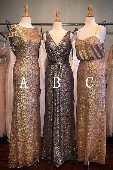Sequins Bridesmaid Dress, Mismatched Bridesmaid Dress, Cheap Bridesmaid Dress, Long Bridesmaid Dress, Elegant Bridesmaid Dress, Custom Bridesmaid Dress, Wedding Party Dresses, Elegant Bridesmaid Dresses, Women Formal Party Dresses