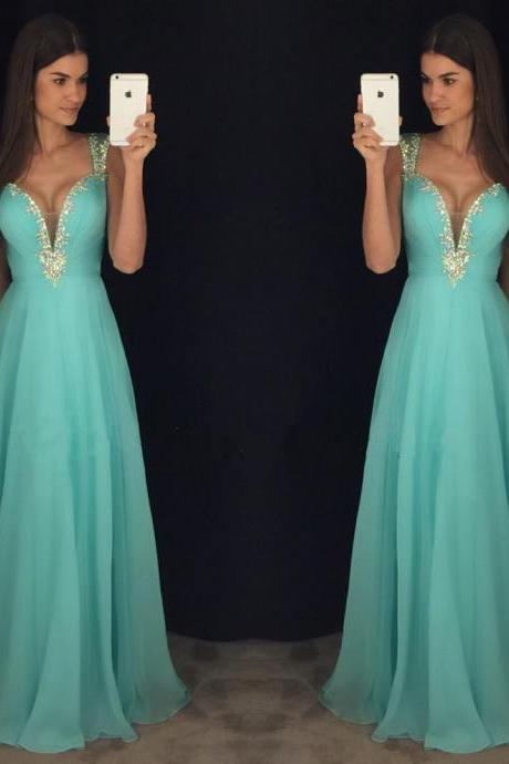 Off Shoulder Prom Dress, Turquoise Blue Prom Dress, A Line Prom Dress, Rhinestones Prom Dress, Elegant Prom Dress, Prom Dresses 2017, Vestido De Festa, Cheap Prom Dress, Prom Dresses For Women