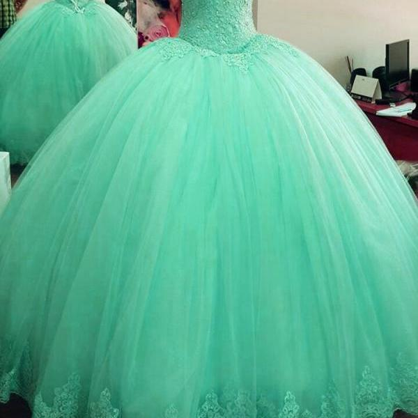 Turquoise Blue Wedding Dress, Off Shoulder Wedding Dress, Elegant Wedding Dress, Lace Applique Wedding Dress, Wedding Ball Gowns, 2017 New Arrival Bridal Dresses, Wedding Dresses for Bride