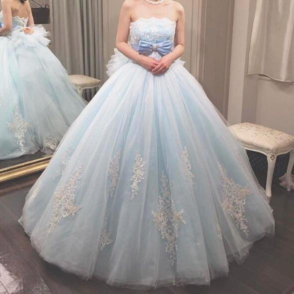 Blue Prom Dress, Lace Applique Prom Dress, Puffy Prom Dress, Elegant Prom Dress, Tulle Prom Dress, Prom Dresses 2018, Vestido De Novia, Cheap Prom Dress, Evening Dresses 2018, Quinceanera Dresses, Pageant Girl Dresses, Wedding Dresses
