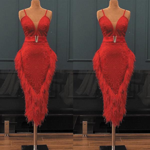 feather evening dress, luxury evening dress, short evening dresses, lace applique evening dress, 2020 evening dresses, mermaid evening dress, red evening dresses, elegant evening dress, evening dresses 2021, vestido de festa