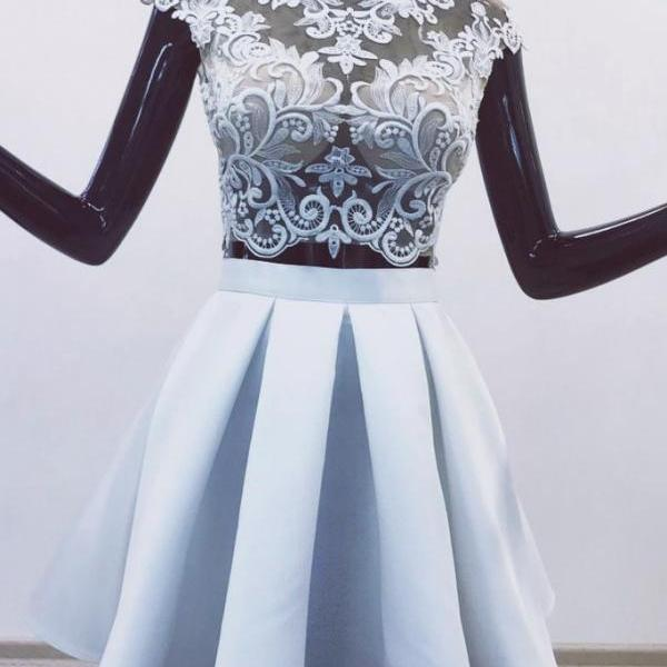 short prom dresses, white prom dress, vintage prom dresses, cheap graduation dress, lace applique prom dresses, prom dresses short, cap sleeve prom dresses, 2021 prom dresses, vestido de graduacion