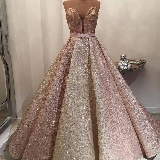 rose pink prom dress, sparkly prom dresses, sweetheart neck prom dress, prom ball gown, 2021 prom dress, vestido de graduacion, robe de soiree, elegant prom dresses