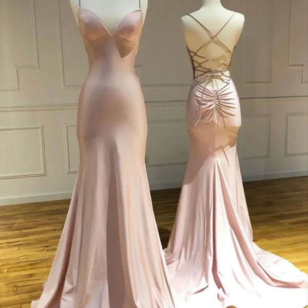 backless evening dress, pink evening dress, mermaid evening dresses, evening dresses long, simple evening dresses, vestido de fiesta, robe de soiree, cheap evening dress, evening dresses 2021, 2021 evening dresses