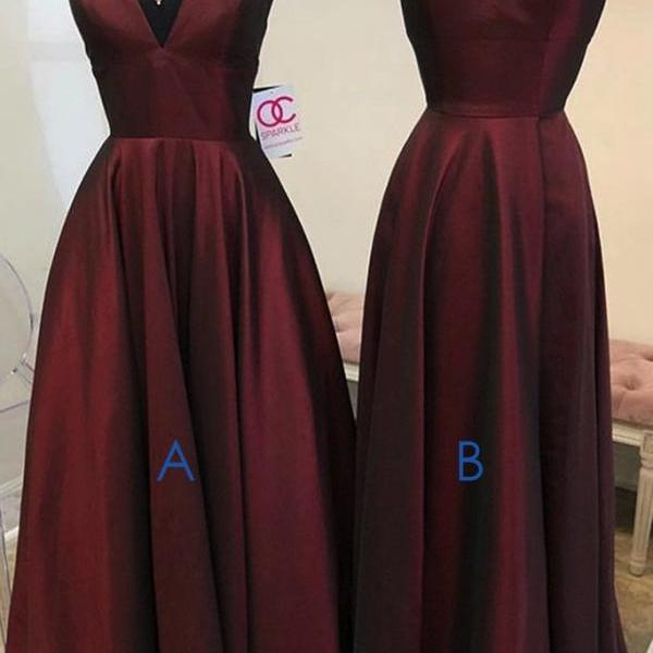 burgundy prom dresses, cheap prom dress, simple prom dress, formal wear, elegant prom dresses, mixed style prom dresses, prom gown, 2021 prom dresses, vestido de longo