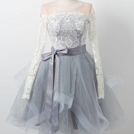 homecoming dresses 2021, cheap graduation dress, gray prom dresses, vintage prom dresses, cocktail dresses, lace applique prom dresses, 2021 prom dresses, short prom dress, robe de soiree