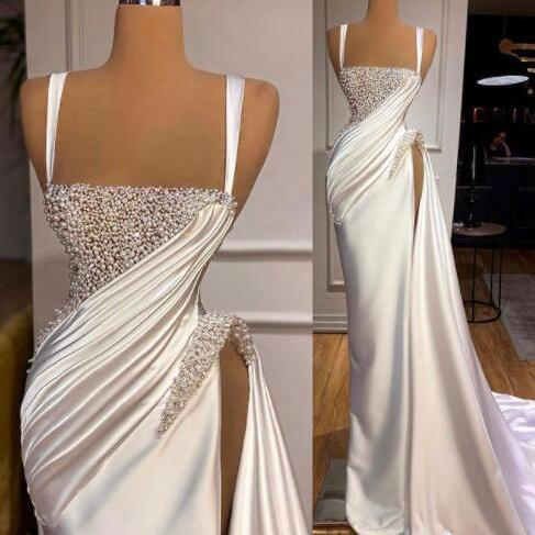 modest evening dress, sexy formal dress, white evening dresses, beaded evening dress, vestido de longo, robe de soiree, luxury evening dresses, peal evening dresses, abendkleider, vintage evening dress, formal dresses