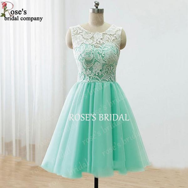 Mismatch Short Mint Green Bridesmaid Dresses, Chiffon Bridesmaid ...