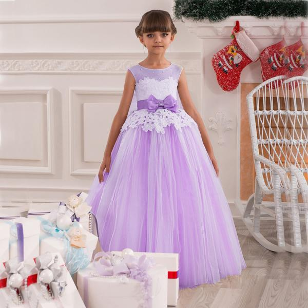 Purple Flower Girl Dress, Lavender Flower Girl Dress, Lace Flower Girl Dress, Cute Flower Girl Dress, Kids Prom Dress, Little Girl Prom Gowns, Pageant Little Girl Dresses