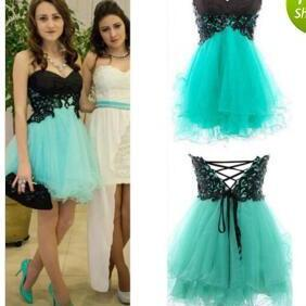Short Homecoming Dress, Mint Green Prom Dress, Cute Prom Dress, Mini Short Prom Dress, Cheap Homecoming Dress, Cheap Homecoming Dress, 2017 Homecoming Dresses, Lace Applique Homecoming Dress