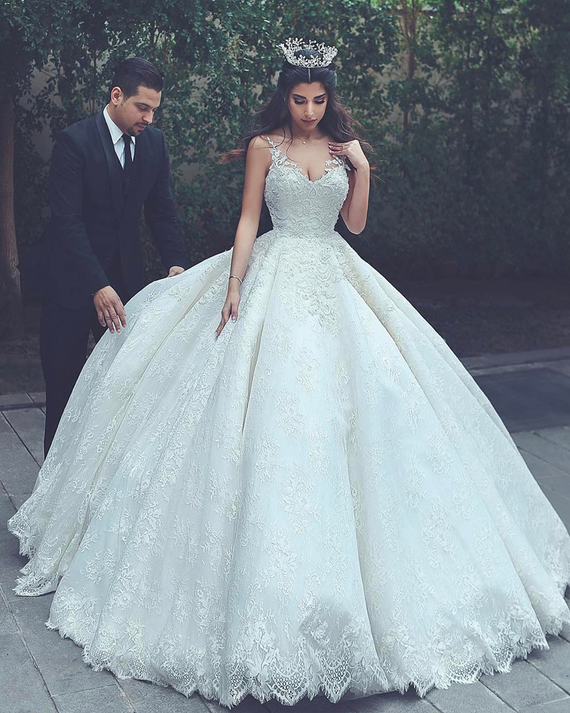 Wedding Ball Gown, Luxury Wedding Dress, Wedding Dresses 2018, Lace ...