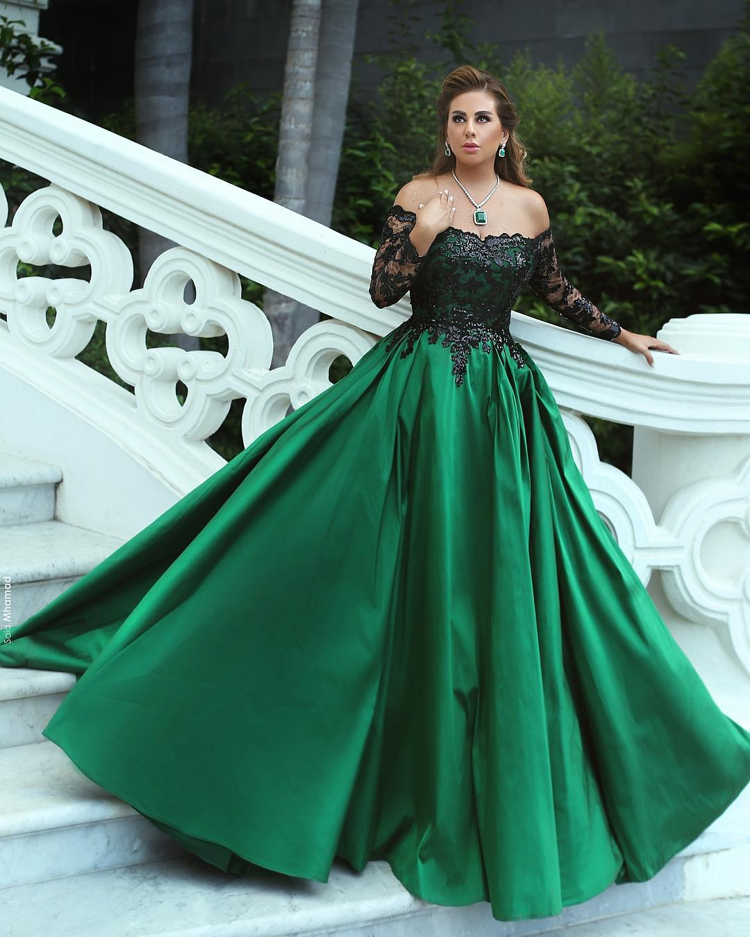 Off The Shoulder Prom Dress Lace Applique Prom Dress